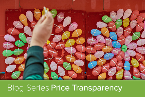 balloons arranged in a target; price transparency blog