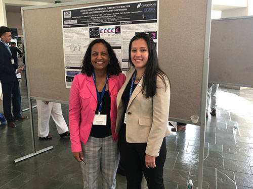 Victoria Gonzalez and her preceptor, Dr. Andrea Birch, with her poster at NMA 2019