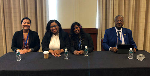 Bao Tran, Lexia, Naomi, Dr. Johnson Lightfoote at the NMA discussion panel showcasing the 2019 PIER interns