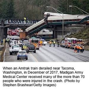 Amtrak train derailment